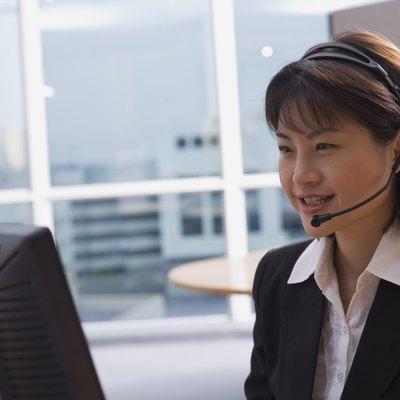 Businesswoman on her computer