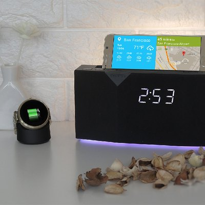 Beddi app-enabled smart clock