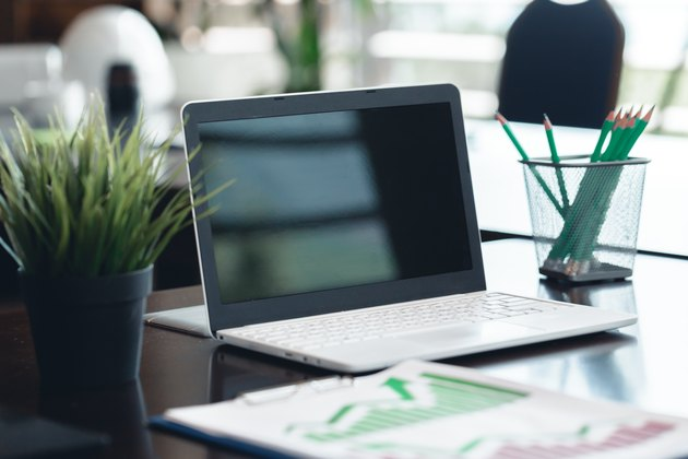 laptop in the modern office