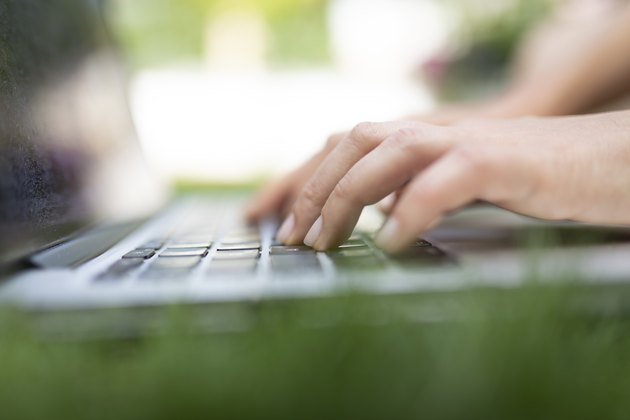 Young Female Using Laptop