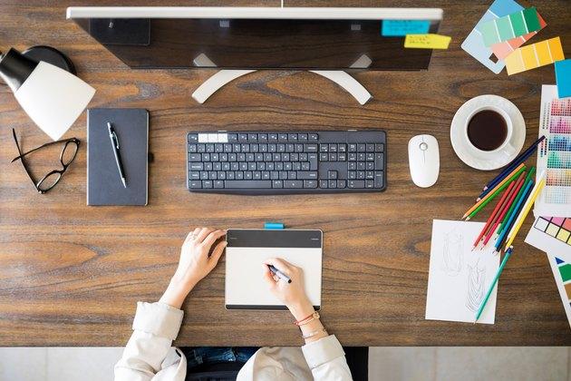 Graphic designers desk