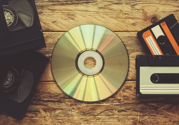 video tapes, audio tapes and compact disc