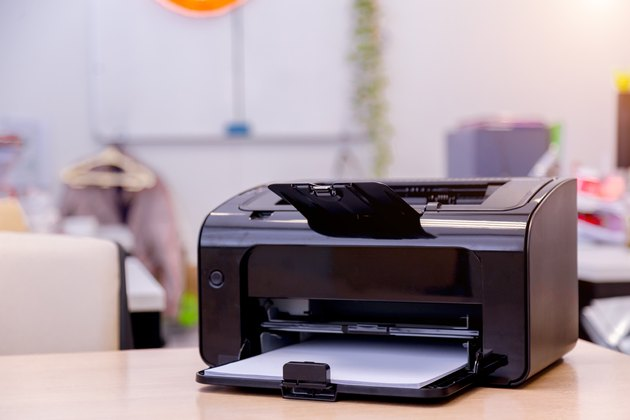 Printer On Table At Home