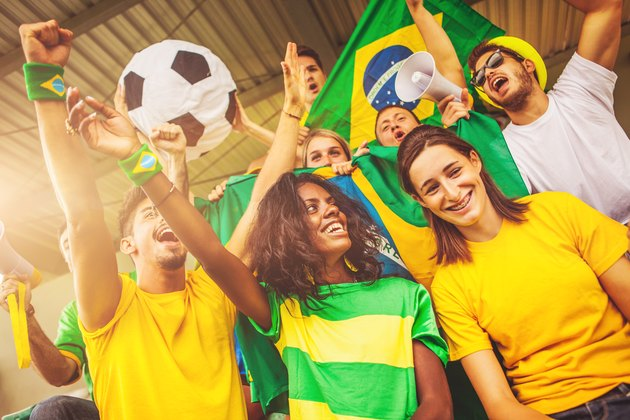 Soccer championship supporters: fans of national teams
