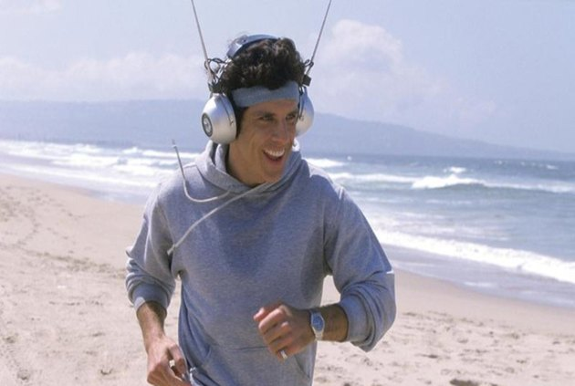 Ben Stiller wearing ridiculous headphones from the movie Starsky and Hutch