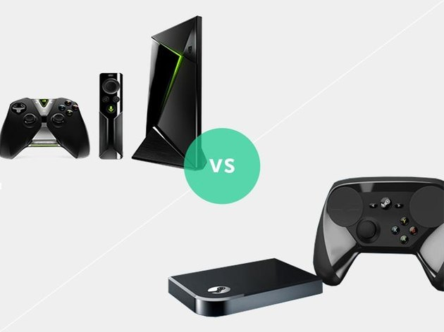 Picture of the Nvidia Shield Android TV and Valve Steam Link