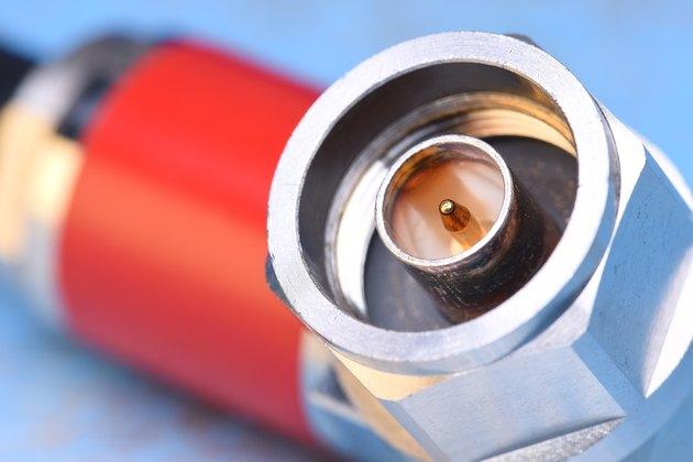 Closeup of coaxial connector