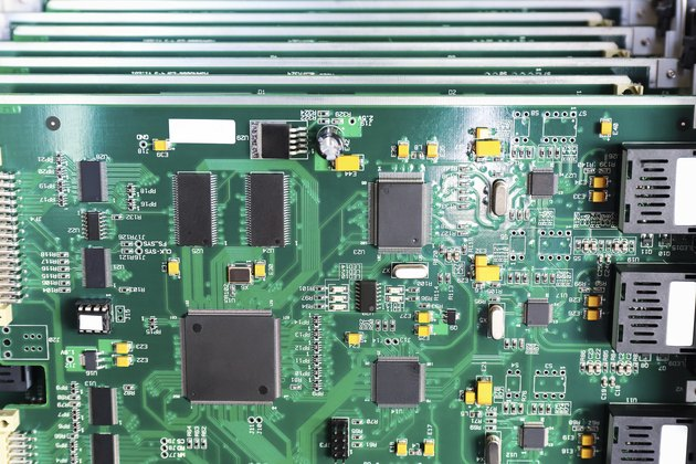 communication motherboard closeup
