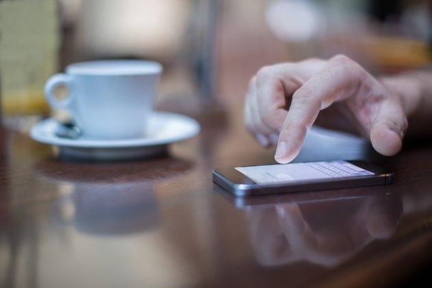 Smartphone on a coffe break