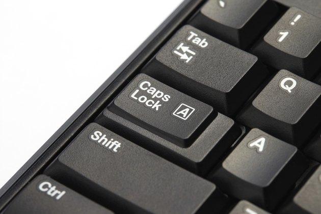 Caps lock button on keyboard