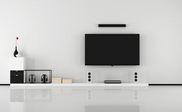 Black and white home cinema