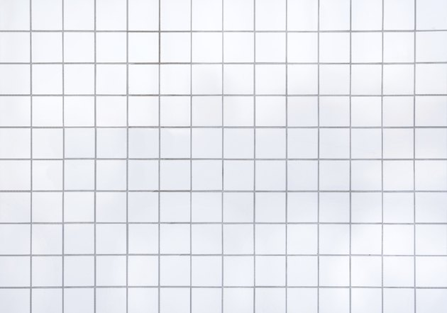 Floor tiles of the same pattern used for the background