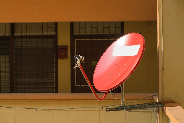 Satellite dishes on a residence
