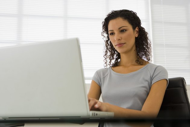 Woman with a laptop computer