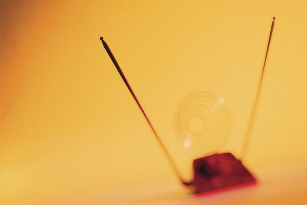 Blurred TV antenna