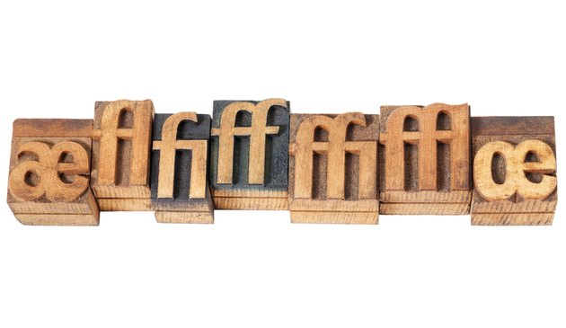ligature in wood type