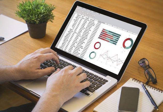 computer desktop spreadsheet