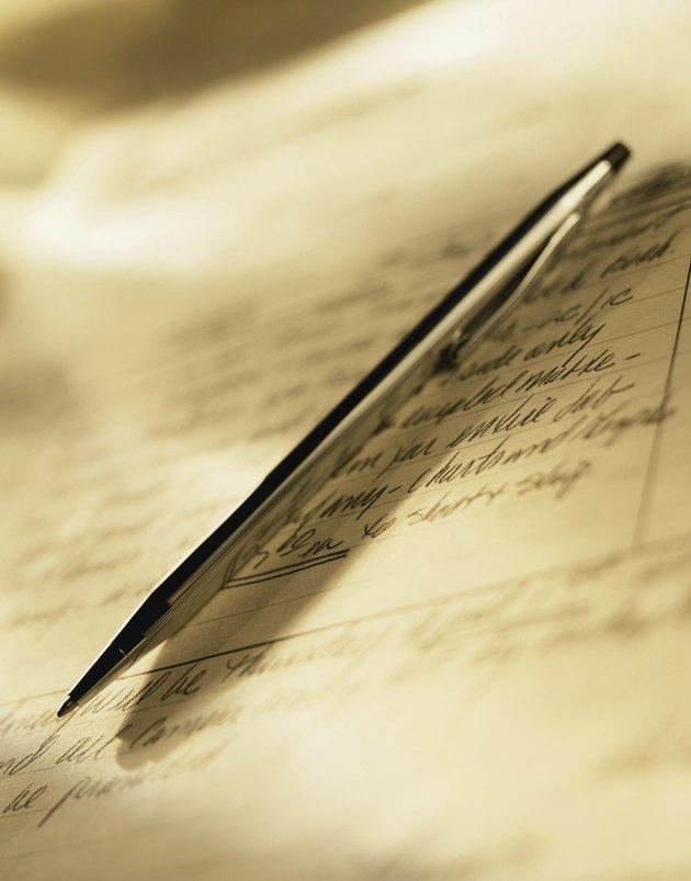 Fountain Pen & Signature