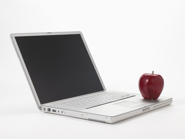 Laptop computer with apple