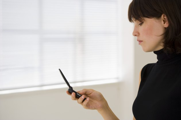 Woman with a cellular phone