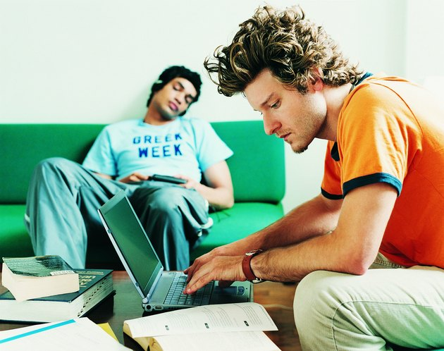 Two Male Students at Home