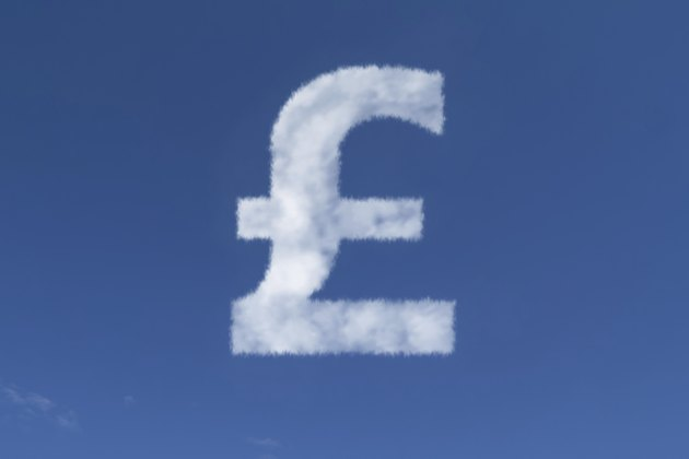 British Pound (Currency) Symbol in the form of a Cloud