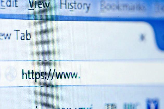 The Internet address bar on a computer