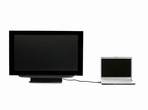 LCD HDTV connected to laptop