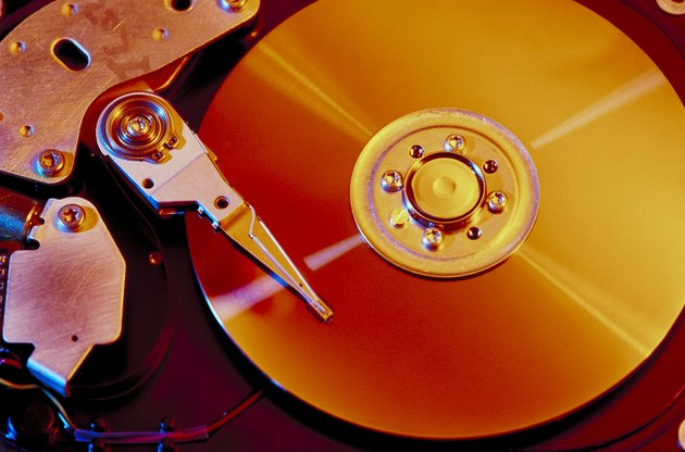 Close up of computer disk