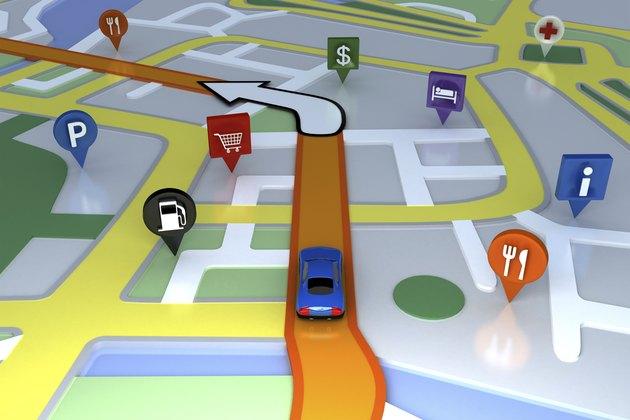 Inside GPS animation.