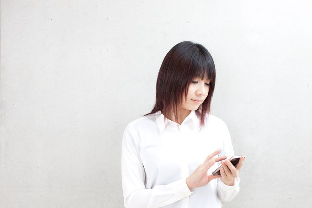 Businesswoman using a smartphone