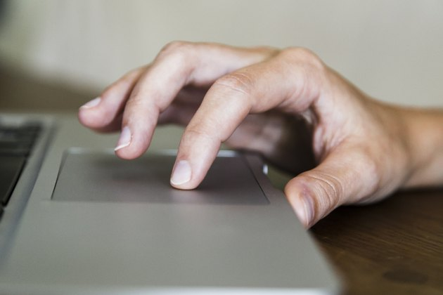 Hand on Trackpad