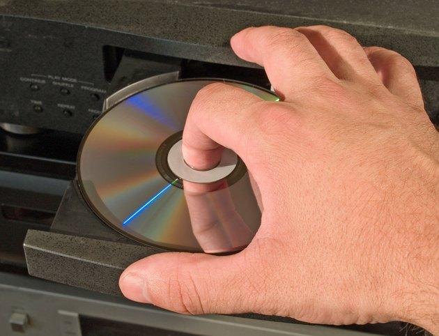 inserting dvd disk in player
