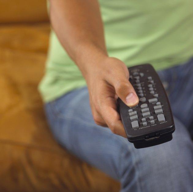 Pressing button on remote control
