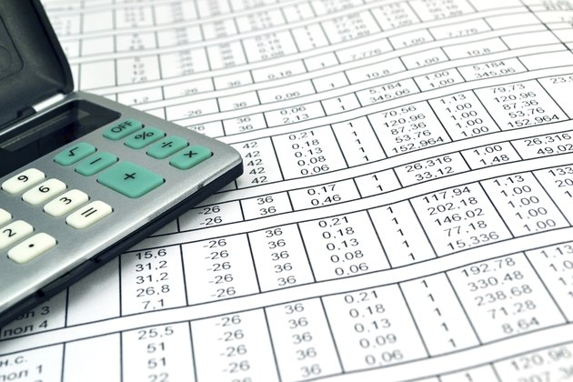 Numbers on paper and calculator