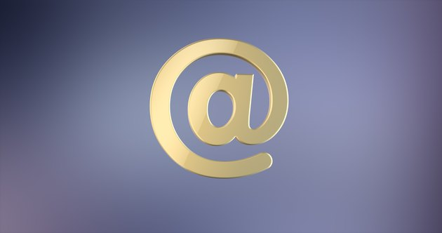 Mail At Sign Gold 3d Icon