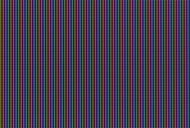 Macro shot of LCD TV matrix
