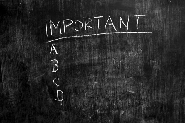 Important list on blackboard