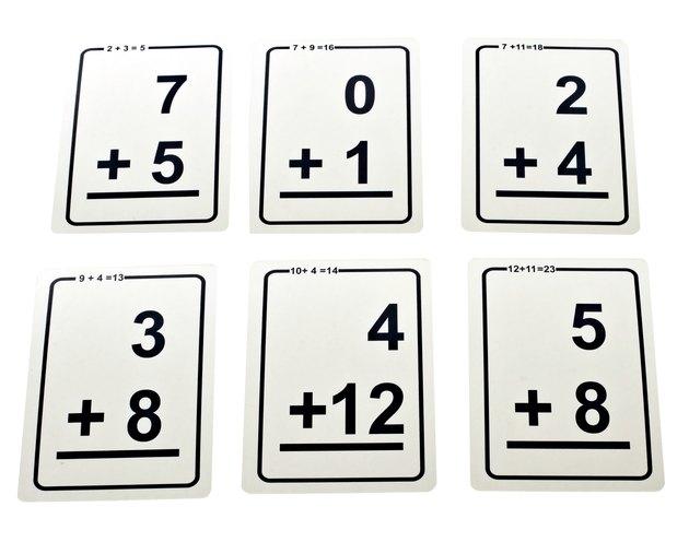 Math addition Flash cards