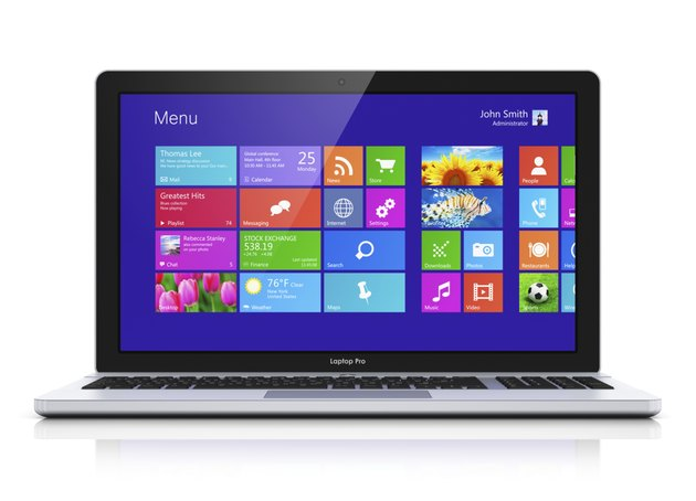 Modern laptop with touchscreen interface