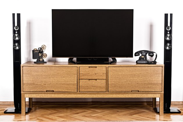 television and telephone with home theater