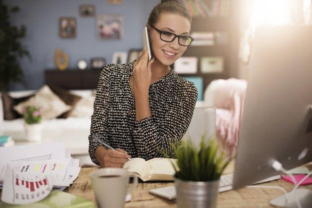Her job demands multitasking skills
