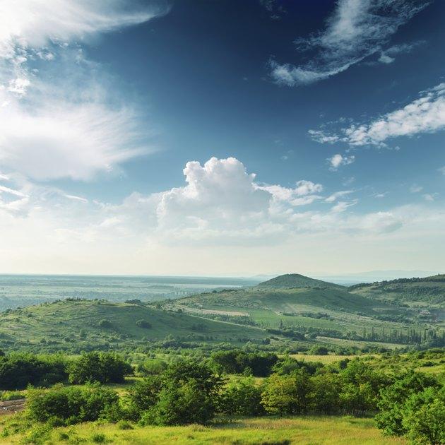 beautiful green mountain landscape in Carpathians