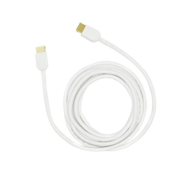 USB cable on white background