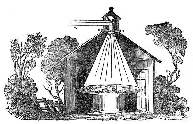 Depiction of a camera obscura