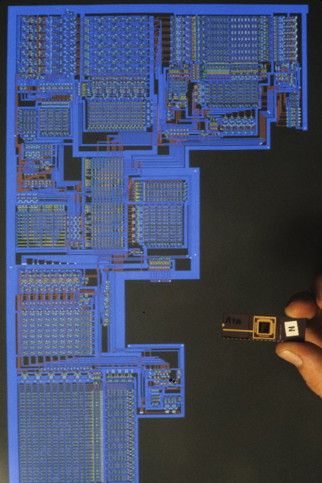 Computer graphics designing chip circuitry