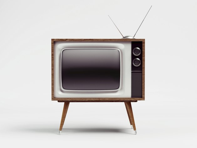 Retro TV with Clipping Path