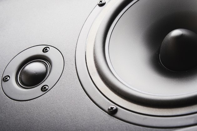 Audio speaker. The musical equipment. Background
