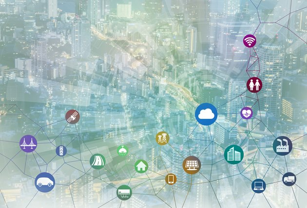 smart city and internet of things, various communication devices