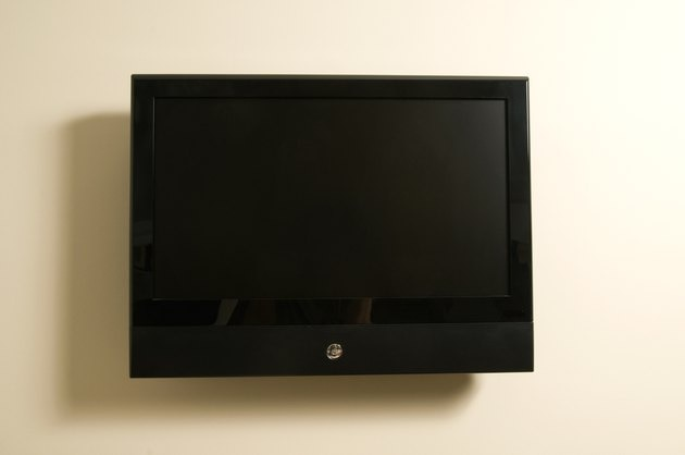Television on wall